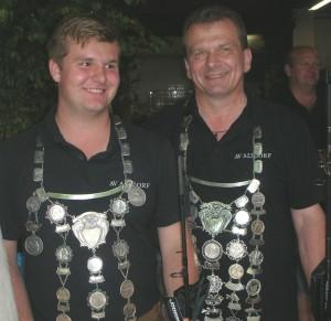 Die beiden Fischerkönige 2016, Johannes Gleis und Josef Priller.